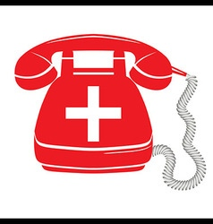 Emergency call sign icon fire phone number vector