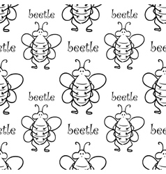 Seamless pattern with beetle vector