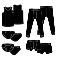 Pants briefs shirt vector