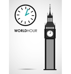 world hour vector image
