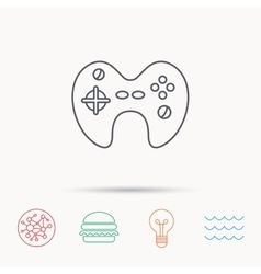 Joystick icon video game sign vector