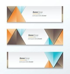 Set bright modern abstract banner design brown vector
