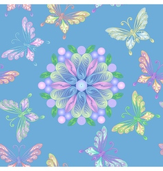 elegant floral lace seamless vector image