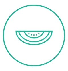 Melon line icon vector