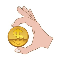 Giving money symbol vector