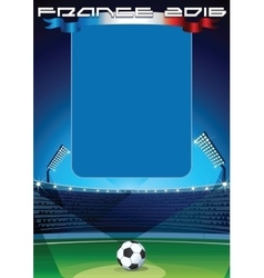 Soccer Background Template vector image