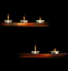 Burning small candles vector