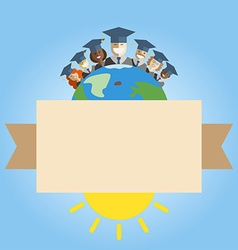 People of the world graduation and education vector