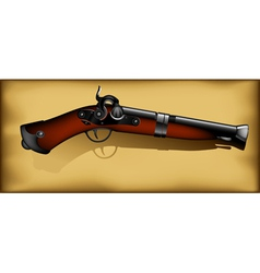ancient gun vector image vector image