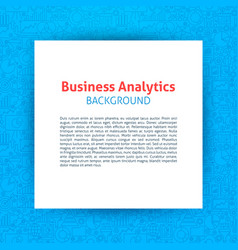 Business analytics paper template vector