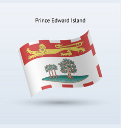 Canadian province of prince edward island flag vector