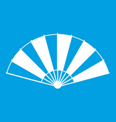 Chinese fan icon white vector