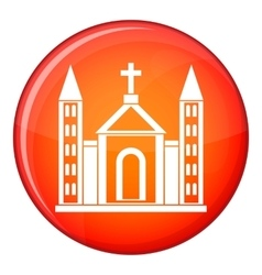 Christian catholic church building icon vector