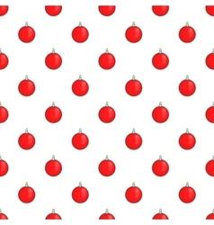 Christmas ball pattern cartoon style vector