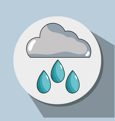 Cloud raining and natural waether conservation vector