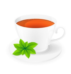 cup of tea 06 vector image