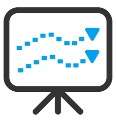 Dotted trends board icon vector
