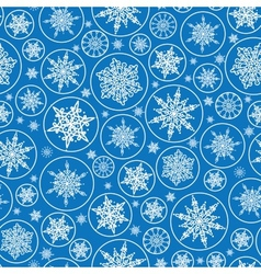 Falling snowflakes seamless pattern background vector