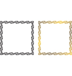 frame of the chains vector image vector image