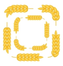 Frames made by wheat spikes icon cartoon style vector image vector image