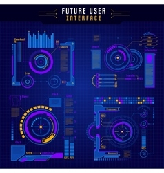 Future user interface icon set vector