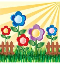 garden flowers vector image vector image