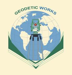 Geodetic works vector
