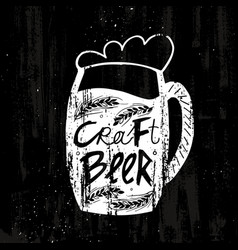 Hand drawn craft beer template vector