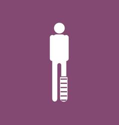 Icon man with broken leg vector
