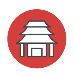 Japan temple icon isolated on white background vector