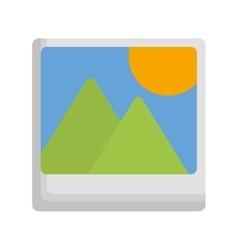 landscape photograph icon image vector image