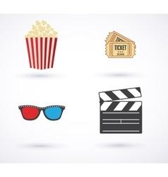 Movies icon set vector