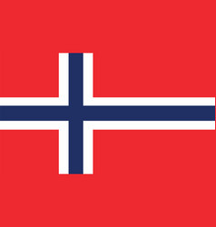Norway flag for independence day and infographic vector