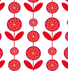 Red patterns flowers vector