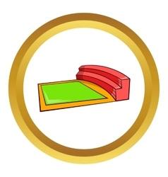 Small square stadium icon vector