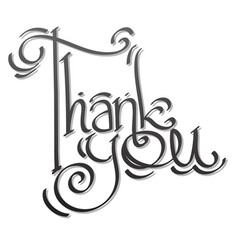 Thank you lettering hand drawing vector