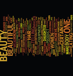 The beauty within text background word cloud vector