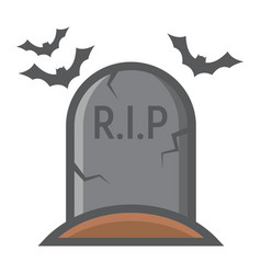 tombstone filled outline icon halloween scary vector image