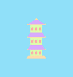 Traditional chinese house asian architecture vector