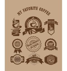 vintage retro coffee badges vector image vector image