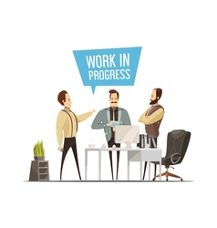 Work meeting cartoon style design vector