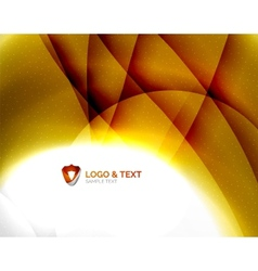 Yellow blur wave abstraction vector image