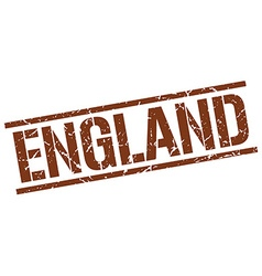 England brown square stamp vector