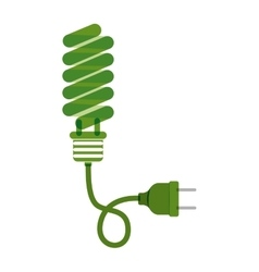 Green bulb fluorescent with plug vector