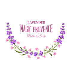 label with lavender vector image