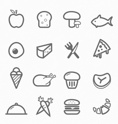 Food symbol line icon set vector
