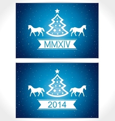 Happy christmas eve blue background with symbol co vector