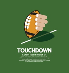 Touch Down American Football vector image