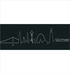 American cities profile vector image