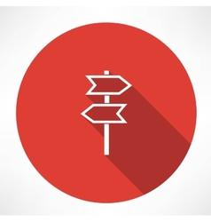 Signpost icon vector